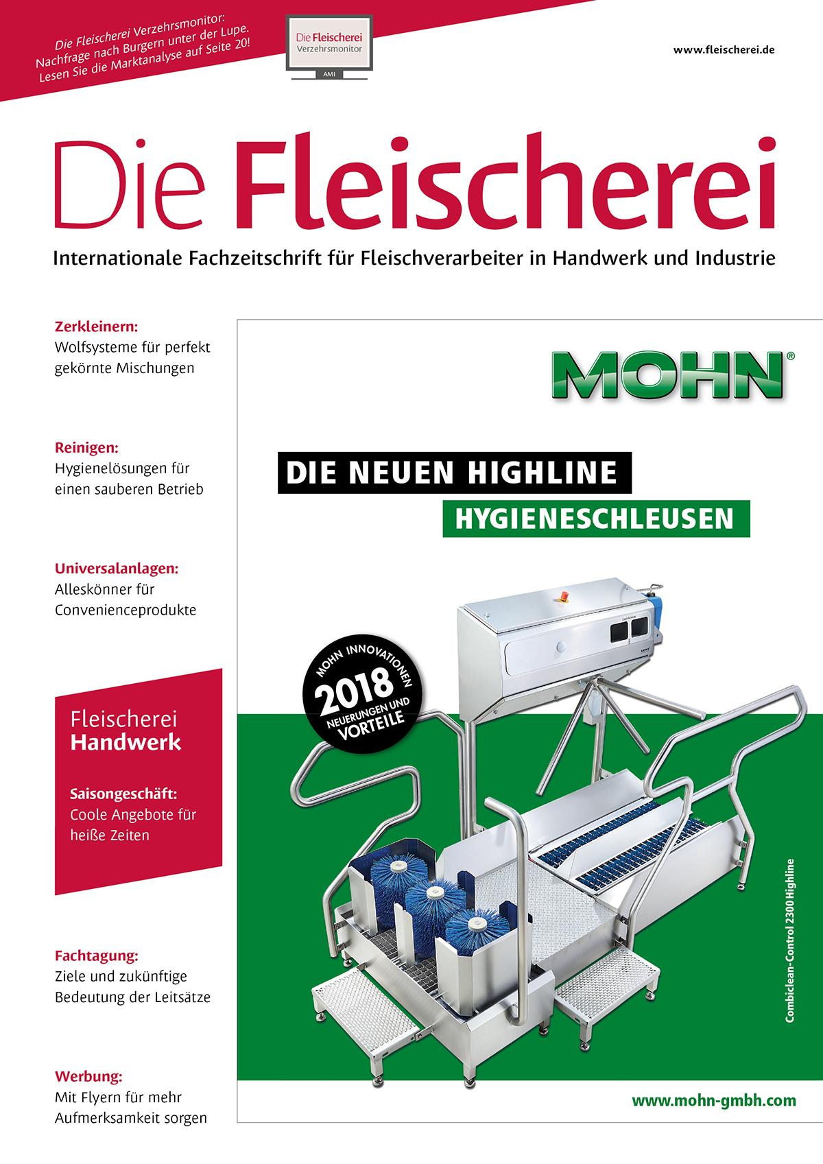 Cover Die Fleischerei 6/2018