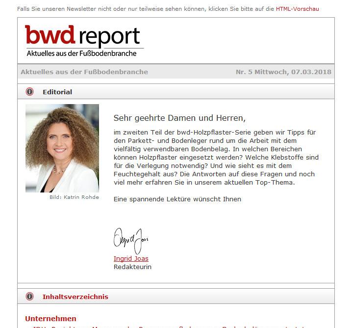 bwd Newsletter