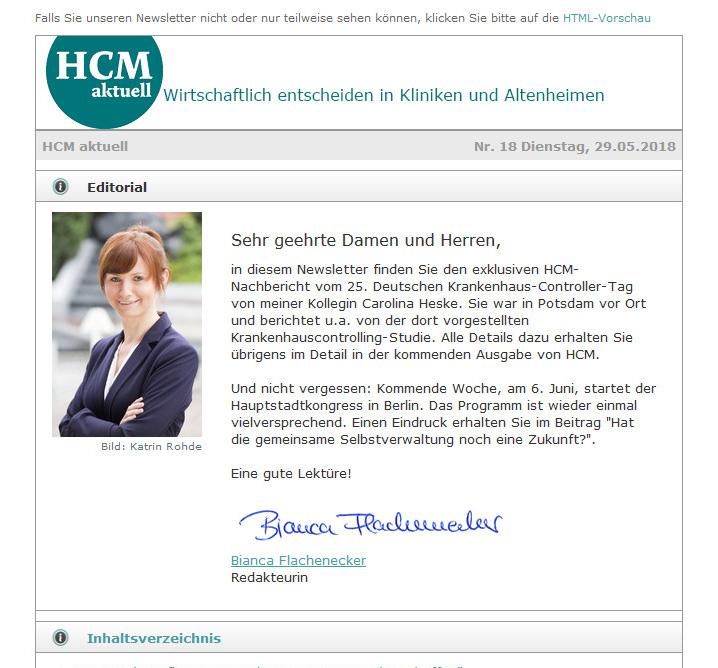 Health & Care Management Newsletter
