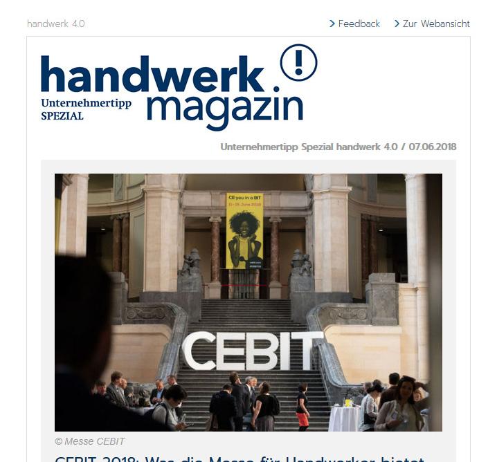 handwerk magazin Newsletter Unternehmertipp Spezial