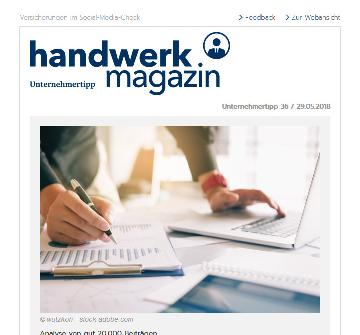 handwerk magazin Newsletter