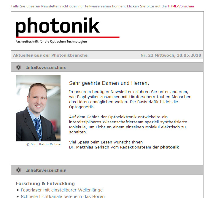 photonik Newsletter