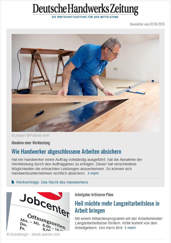 Deutsche Handwerks Zeitung Newsletter