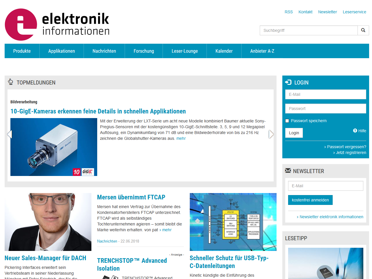 elektronik informationen Webseite