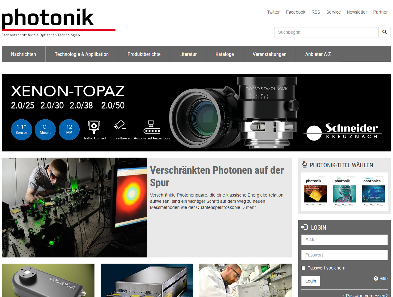 photonik Webseite
