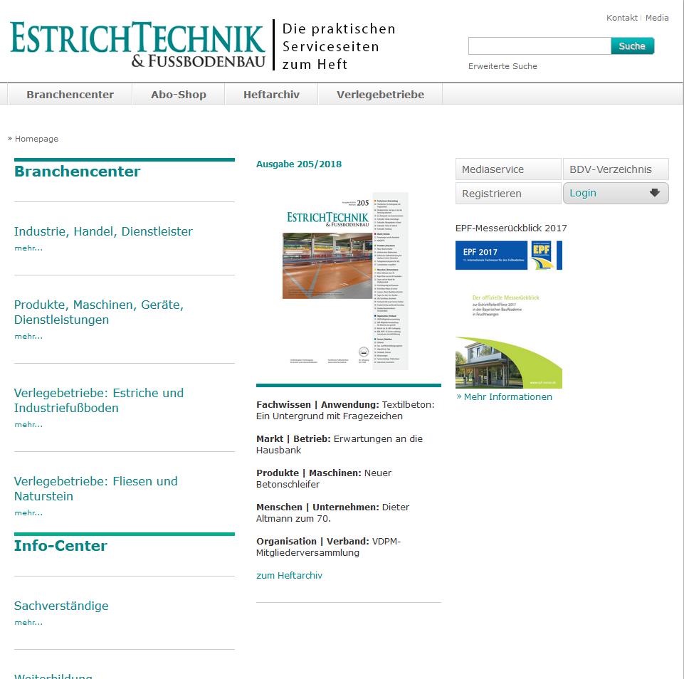 EstrichTechnik & Fußbodenbau Webseite