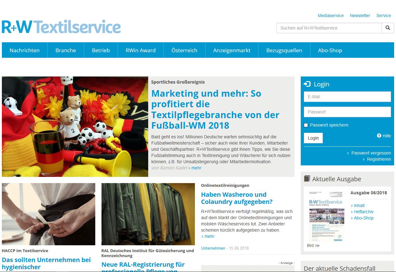 R+WTextilservice Webseite