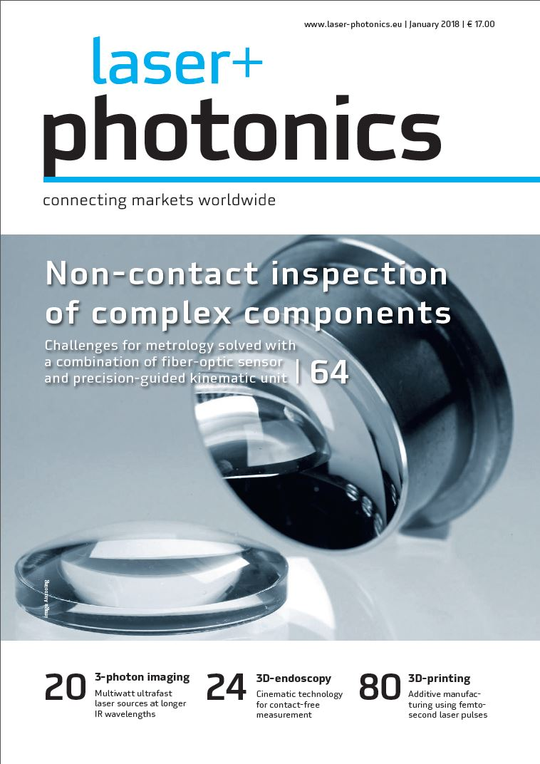 Cover laser+photonics 01/2018