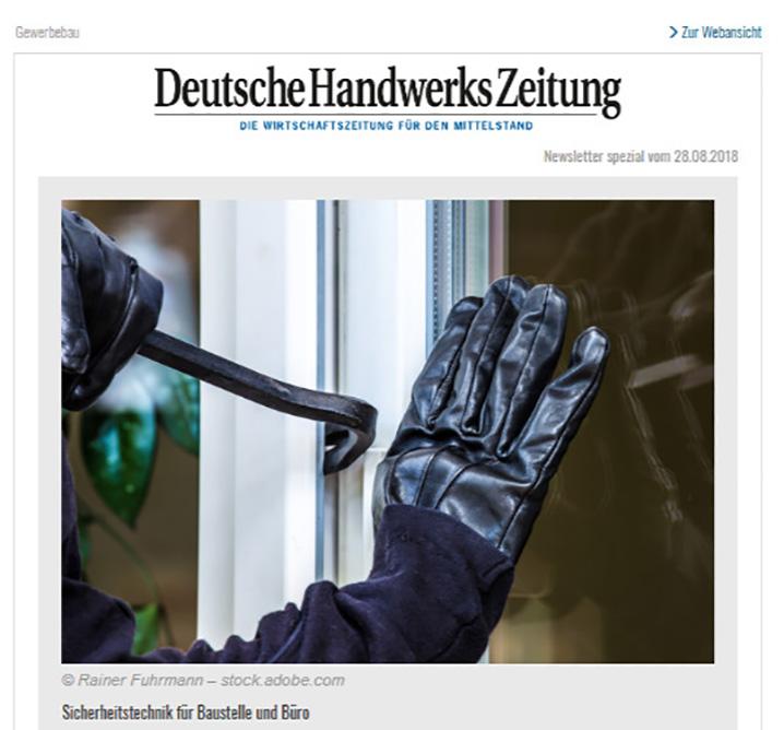 Deutsche Handwerkszeitung Newsletter