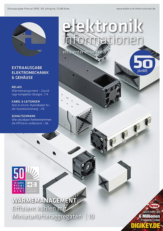 Cover elektronik informationen effizienter entwickeln 02/2018
