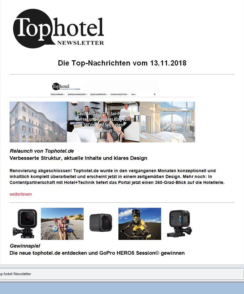 Tophotel Newsletter neu