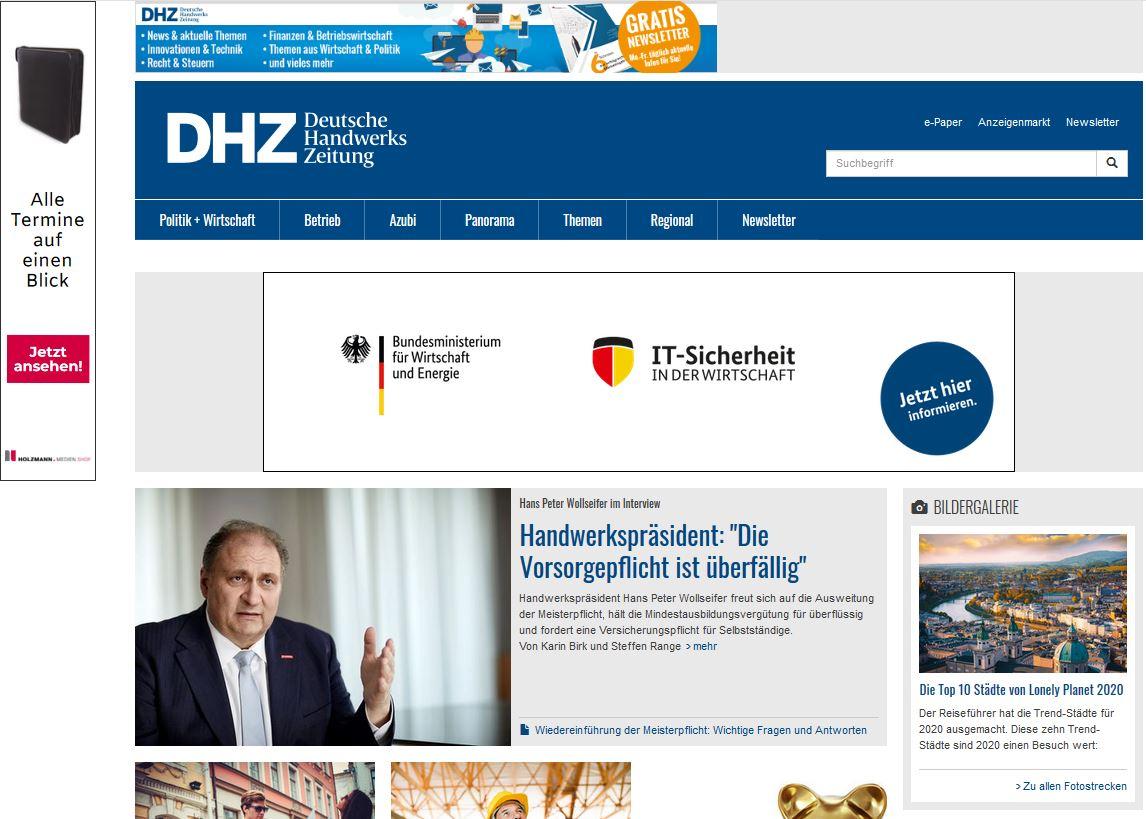 DHZ_Website_Screen