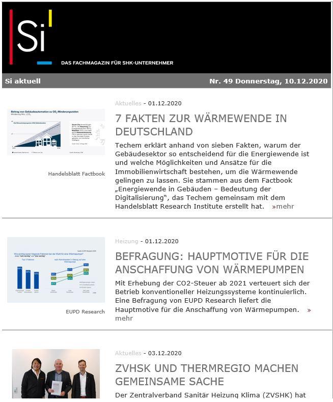Si Newsletter Screen